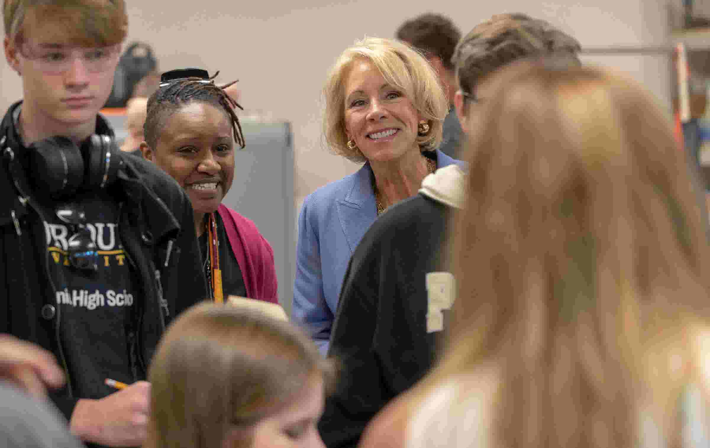 Betsy DeVos visits Purdue Polytechnic High School, sees project-based learning in action