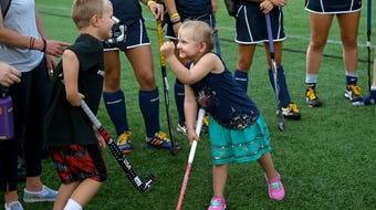 Nora Zelko of Horseheads has been fighting cancer since she was a newborn. Recently, the Ithaca College field hockey team adopted Nora.
