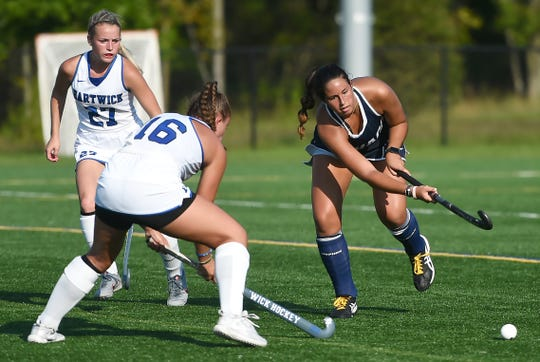 Ithaca College field hockey match against Hartwick College.