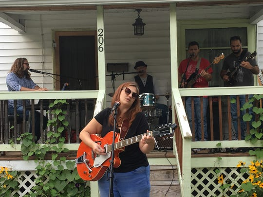 Noon Fifteen performs at last year's Porchfest.