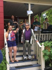 Tyrannical Vegetable performs at last year's Porchfest.