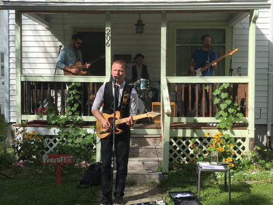 Kitestring performs at last year's Porchfest.