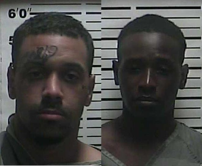 Cameron Taylor, 20, left, and Taja Allen, 22, right, face numerous charges including felony evading arrest after allegedly leading law enforcement on a car chase and brief manhunt near Highway 22 on Sept. 16, 2019.