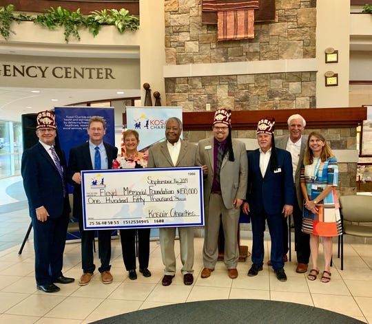 Kosair Charities presents $150,000 to Floyd Memorial Foundation to support Baptist Health Floyd Neonatal Abstinence Syndrome Unit.