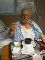 Jeff Hempel, 69, recovers at the Mayo Clinic in Minnesota after brain surgery in this undated photo.