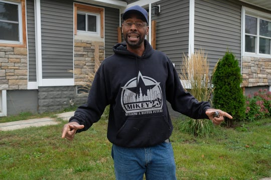Contractor Michael McKissic started a foundation, named Mikey 23 after his son was shot to death in 2015. His family's construction business helps youth start on a career path in construction after dealing with the tragedies in their lives. The donated, fire damaged home will help fund the next project Tuesday, Sept. 17, 2019.