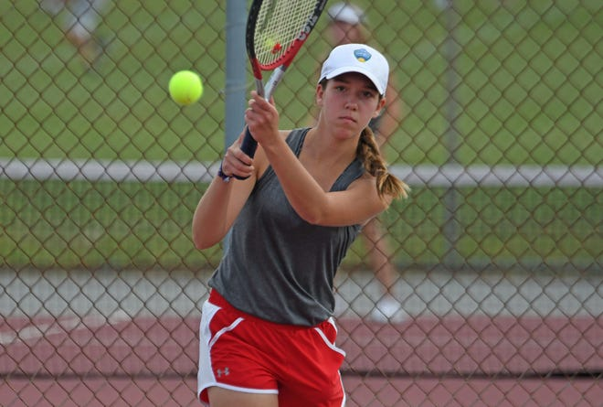 Shelby Junior Grace Mahek won the girls 16 singles title in the 87th News Journal Tennis Tournament as a tuneup for the high school season