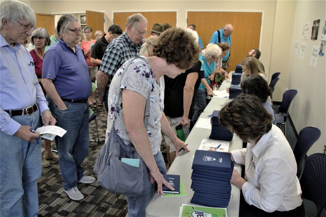 A crowd of 100 Marion County residents registered Monday for the Adult Lifelong Learning classes being offered by the Marion Public Library. Library officials were surprised and pleased with the response from the community. Five classes are being offered this fall, beginning in October.