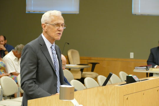 Former city manager David Harden said city employees should work as a team at the Marco Island City Council meeting on Sept. 16.