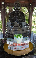Offerings of TH Milk's products are made to Buddha at TH Milk's operations in Nghia Son, Vietnam.