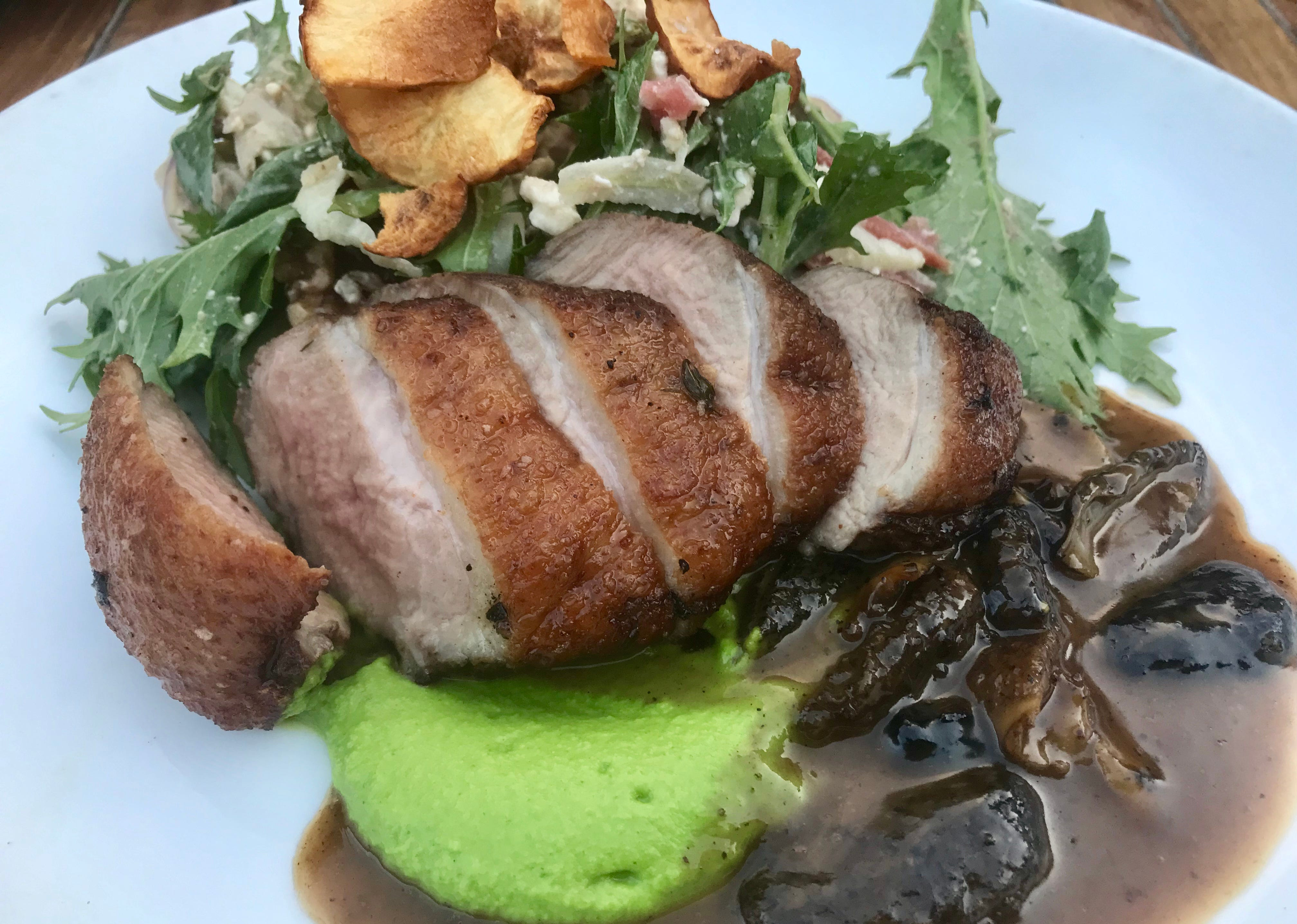 Morel, 430 S. Second St., works with whole animals; nothing goes to waste. Duck breast in summer was served with an excellent salad of mizuna, hickory nuts, radish and rhubarb in duck-liver vinaigrette.