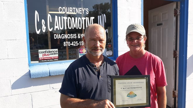 The Mountain Home Area Chamber of Commerce recently inducted C&C Automotive,Inc. Membership inductions occur when a businesshas served the community for some time and decides to join the Chamber family. Owners, Courtney and Rhonda (pictured), say they are committed to providing customers with the highest level of service, so they will always choose them for maintenance and repair needs. C&C Automotive, Inc., is located at 203 Dodd Street in Mountain Home.