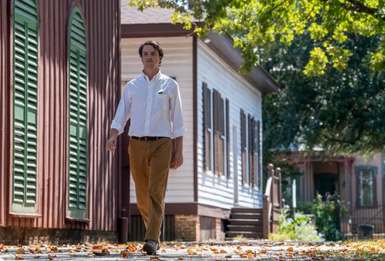 Collier Neeley walks through Old Alabama Town in Montgomery, Ala., on Tuesday September 17, 2019. Neeley has been named the interim director of the Landmarks Foundation.
