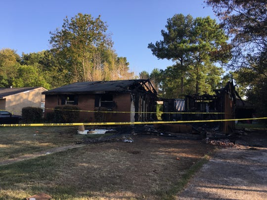 The house on Gardenia Court in Prattville, received heavy damage in the Monday morning fire.