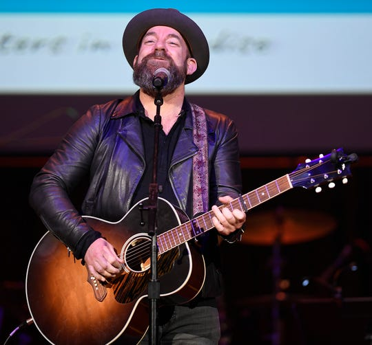 Kristian Bush performs during the SIP Hope 4 Hope Town Hurricane Dorian Relief Concert at the Ryman Auditorium  Monday, Sept. 16, 2019 in Nashville, Tenn.