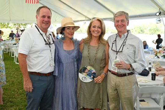 Gavin and Lorie Duke and Fiona and Jim King attend the 23rd annual Chukkers for Charity polo match at Riverview Farm.