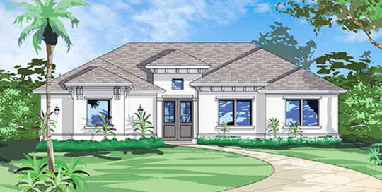 Casablanca Homes has begun construction on a custom-designed luxury home on a 2.5 acre wooded site in Golden Gate Estates.