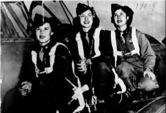 Gertrude Tompkins (far right) had a stutter for most of her life until she began flying planes. She went missing in October 1944 after the P-51D she was flying disappeared on a flight to Newark, NJ from California.