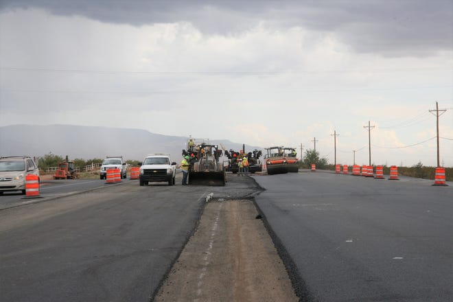 Work on U.S. Highway 54/70 between Alamogordo and Tularosa is expected to be complete Winter 2019.