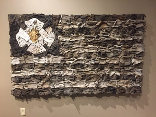 """Firefighter's Memorial Flag"" by Jaymes Dudding of Rio Rancho is one of the pieces included in the 'Gateway to Imagination' exhibition opening this weekend at the Farmington Museum at Gateway Park."