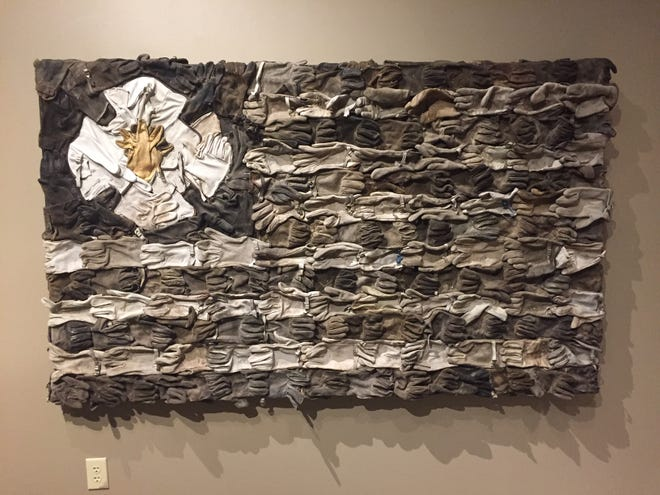 """""""Firefighter's Memorial Flag"""" by Jaymes Dudding of Rio Rancho is one of the pieces included in the 'Gateway to Imagination' exhibition opening this weekend at the Farmington Museum at Gateway Park."""