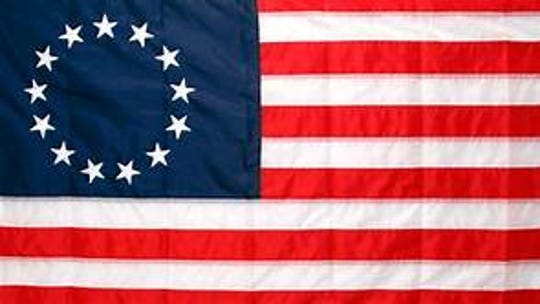 This was the United States flag with the original 13 colonies.