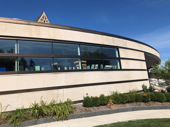 New windows in the youth services department at the Baldwin Library in Birmingham will match the glass in adult services. While not considered bird-friendly, it is cheaper.