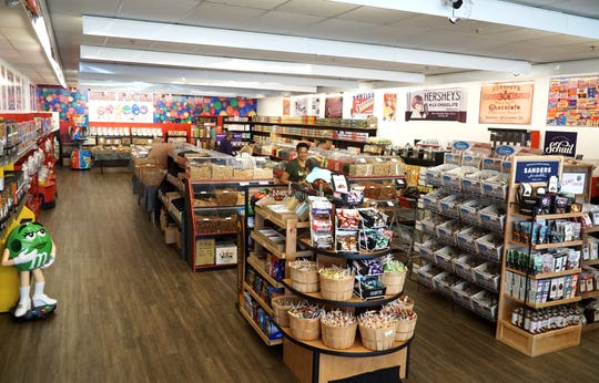 Westland's Bulk Foods and Smoothies has a number of aisles of bulk foods, candies, flours and grains and nuts for their customers.