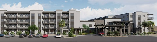 A rendering of Mera City Center, new 55-and-older apartments coming to Surprise's downtown.