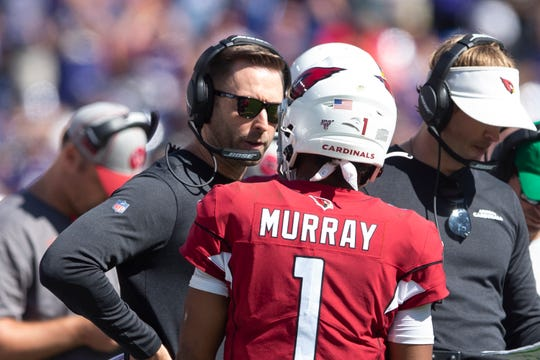 Arizona Cardinals head coach Kliff Kingsbury and quarterback Kyler Murray go for their first NFL win on Sunday against the Carolina Panthers.