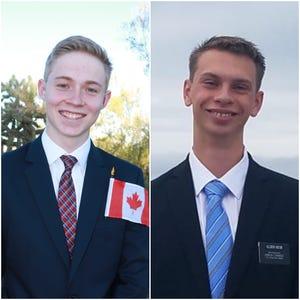 Dallin Thompson (left) and Bryan Keck.