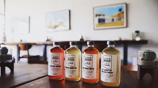 Kombucha flavors from All About the Booch are available at around 20 locations in the Valley.