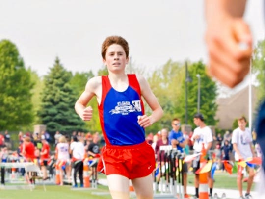 St. Clair cross-country runner Jack Pennewell has won three races to kick off the 2019 season.