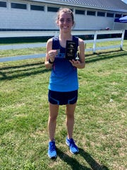 Richmond cross-country runner Maddy Bean set the school record in the 5 kilometers during the Algonac Muskrat Classic on Sept. 7.