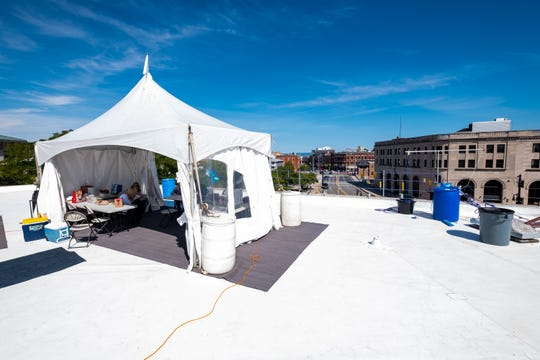 The annual Community Roof-Sit for Kids is taking place this week on the roof of the Michigan Mutual building in downtown Port Huron. This is the second year since the event was moved to downtown from the Birchwood Mall.