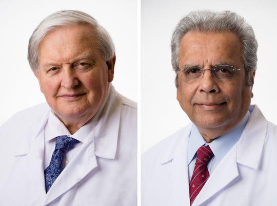 Paul B. Donovan, M.D., (left) and Riolin C. Andrade, M.D.