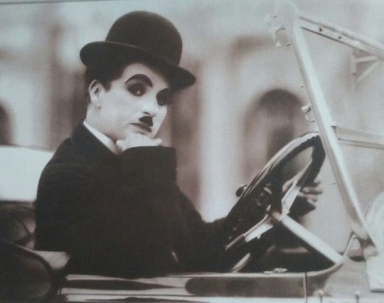 "Charlie Chaplin in the silent film ""City Lights,"" 1931."