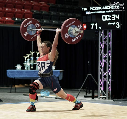 Frankin County's Michelle Picking competes at Worlds, where she took home a first place finish.