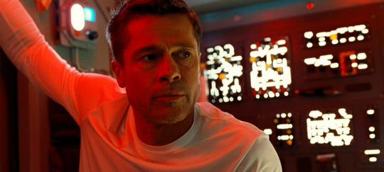 "Brad Pitt stars in ""Ad Astra,"" opening Thursday at Regal West Manchester, Frank Theatres Queensgate Stadium 13 and R/C Hanover Movies."