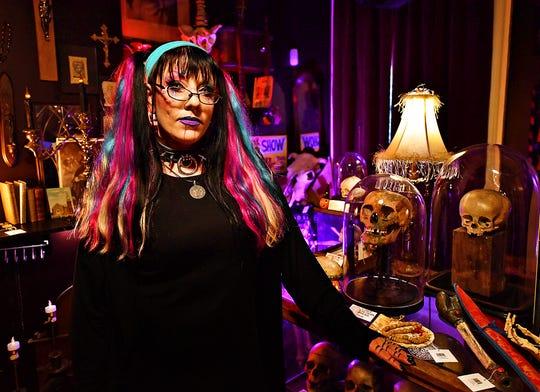 Lauren Rae, owner of The Dark Parlour Haus of Obscurities, is shown in York City, Saturday, Sept. 14, 2019. Dawn J. Sagert photo