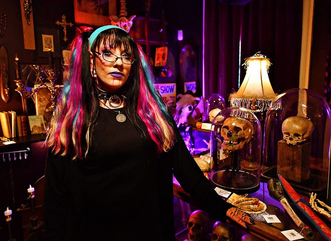 Lauren Rae, owner of The Dark Parlour Haus of Obscurities, is shown in York City, Saturday, Sept. 14, 2019. Dawn J. Sagert photo