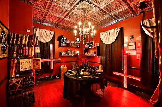 A séance room is on the second floor of Dark Parlour Haus of Obscurities in York City, Saturday, Sept. 14, 2019. Dawn J. Sagert photo