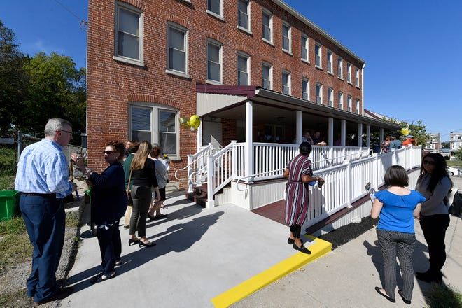 Bell Socialization Services celebrates the opening of their new Jefferson Towers apartments for mental health patients as a part of its Community Hospital Integration Project Program, Tuesday, September 17, 2019. John A. Pavoncello photo