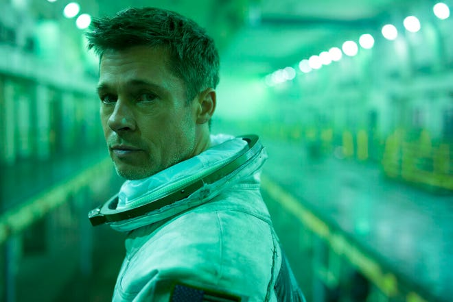 """Brad Pitt stars in """"Ad Astra,"""" opening Thursday at Regal West Manchester, Frank Theatres Queensgate Stadium 13 and R/C Hanover Movies."""