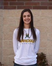 BIshop Manogue graduate Katelyn Oppio is a junior on the Gonzaga volleyball team.
