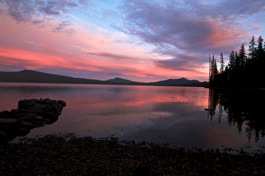 Sunset at Waldo Lake.