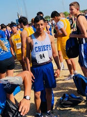 San Angelo Lake View's Alexis Ledesma awaits the start of the Wall cross country meet Saturday, Sept. 16, 2019. The sophomore knocked 1:37 off his best time this season.