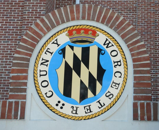 Worcester County seal and building