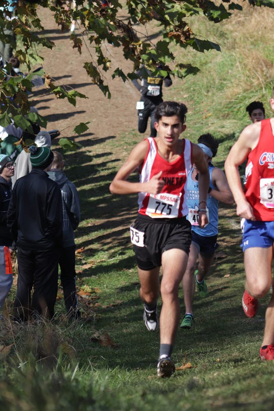 Yousuf Al Naseri competes in a meet for the James M. Bennett cross country team.
