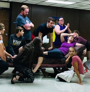 """The Sheboygan Theatre Company practices for their upcoming performances of """"The Addams Family: A New Musical."""""""